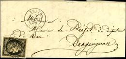 Grille / N° 3 Càd T 15 TRETS (12). 1850. - TB / SUP. - 1849-1850 Ceres