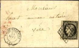 Grille / N° 3 Leg Def Càd T 15 VASSY-PRÈS-VIRE (13). 1849. - TB. - 1849-1850 Ceres