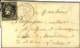 Grille / N° 3 Infime Def Càd T 15 MONTMOREAU (15). 1850. - TB. - 1849-1850 Cérès
