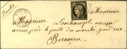 Grille / N° 3 Leg Def Càd T 15 VERCEL (24). 1849. - TB. - 1849-1850 Cérès