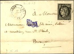 Grille / N° 3 Càd T 15 LE VALDAHON (24) Sur Lettre Avec Texte Daté Epenoy. 1849. - TB. - 1849-1850 Ceres