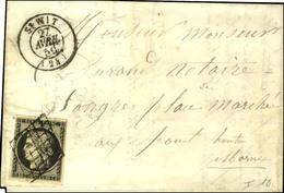 Grille / N° 3 Càd T 15 St WIT (24). 1850. - SUP. - 1849-1850 Ceres