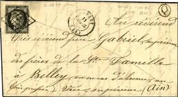Grille / N° 3 Noir Sur Blanc Càd T 15 RUSSEY (24) B Rur Q Sur Lettre Avec Texte Daté Grand Combe Des Bois. 1850. - TB /  - 1849-1850 Ceres