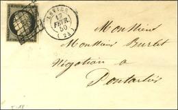 Grille / N° 3 Belles Marges Càd T 15 LEVIER (24). 1850. - TB / SUP. - 1849-1850 Cérès