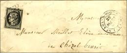 Grille / N° 3 (leg Def) Càd T 14 ST AMAND-MONT-ROND (17) Sur Lettre Pour Chezal-Benoit. Au Verso, Càd D'arrivée T 14 LIG - 1849-1850 Cérès