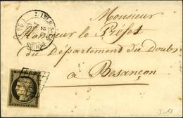 Grille / N° 3 Càd T 14 L'ISLE-S-LE-DOUBS (24). 1849. - TB / SUP. - 1849-1850 Ceres