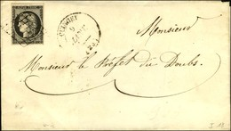 Grille / N° 3 Càd T 14 QUINGEY (24). 1850. - TB. - 1849-1850 Cérès