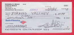 248031 / Bank Of America , USA , Chèque Cheque Check Scheck - Cheques & Traverler's Cheques