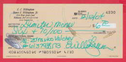 248040 / FIRST NATIONAL BANK , CLAYTON , MO  , AMERICA USA , Chèque Cheque Check Scheck , Coffee Drink - Cheques & Traverler's Cheques