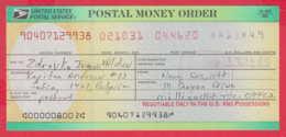 248041 / UNITED STATES , POSTAL SERVICE ,  POSTAL MONEY ORDER , AMERICA USA , Chèque Cheque Check Scheck - Cheques & Traverler's Cheques