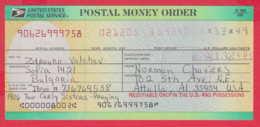 248042 / UNITED STATES , POSTAL SERVICE ,  POSTAL MONEY ORDER , AMERICA USA , Chèque Cheque Check Scheck - Cheques & Traveler's Cheques