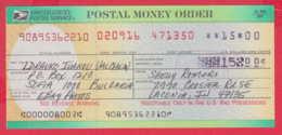 248043 / UNITED STATES , POSTAL SERVICE ,  POSTAL MONEY ORDER , AMERICA USA , Chèque Cheque Check Scheck - Cheques & Traverler's Cheques