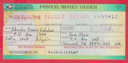 248044 / UNITED STATES , POSTAL SERVICE ,  POSTAL MONEY ORDER , AMERICA USA , Chèque Cheque Check Scheck - Cheques & Traveler's Cheques