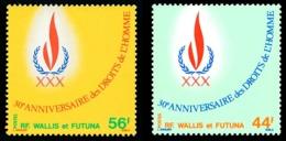 WALLIS ET FUTUNA 1978 - Yv. 224 Et 225 **   Cote= 4,90 EUR - Droits De L'Homme (2 Val.)  ..Réf.W&F22445 - Ongebruikt