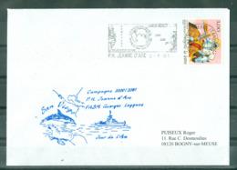 MARCOPHILIE - P H Jeanne D'Arc Georges Leygues Campagne 2000-2001 Jour De L'An Escale à San Diégo Flamme Du 2-1-01. - Posta Marittima