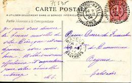 N°75535 -cachet Double Cercle Pointillé De Menetou - Ratel- 1904- - Marcofilia (sobres)