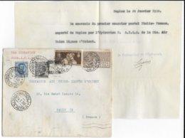 24.1.1930 - 1° COURRIER ITALIE - FRANCE Par HYDRAVION VOIE AULO - RARE AVEC SIGNATURE Du Cdt HYDRESCALE NAPLES => PARIS - Airmail