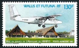 WALLIS ET FUTUNA 1997 - Yv. PA 198 ** TB  Faciale= 1,09 EUR - Avion Et Aérogare De Hififo  ..Réf.W&F21952 - Poste Aérienne