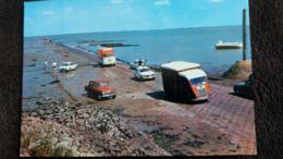CPSM NOIRMOUTIER ILE PONT PASSAGE DU GOIS AUTO VOITURE CAMION CAMIONETTE SIMCA PEUGEOT AMI 6 CITROEN - Noirmoutier
