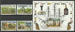 BRITISH. VIRGIN ISLANDS 1986 HISTORY OF RUM MAKING SET & MS CTO - British Virgin Islands