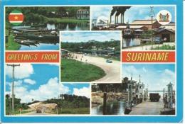 "CPM Du SURINAM "" Greetings From Suriname - Multivues 1994 "" - Surinam"