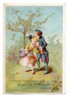Chromo Maison Marcelin Jouzier Angoulême Scène Galante Romantique Marquis Marquise Couple Récolte Cerise Fruit Rouge - Trade Cards