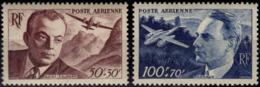 FRANCE Poste Aérienne  21 22 ** Antoine De Saint-Exupéry Jean Gagnaux Aéropostale Pilote Aviateur - Luftpost
