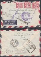 Belgique - Lettre COB 925 X 3 Par Avion De Gent Vers Italie - Retour Non Réclamé 21/10/56 (DD) DC3991 - 1953-1972 Lunettes