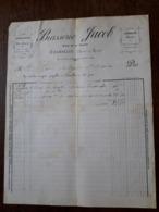 L24/27 Ancienne Facture. Charolles. Brasserie Jacob. 1894 - France