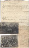 """WW1 - Camp Prisonniers Erlangen Français Russes- 2 Cp  Photos - Un """" Avis """" ( De Représailles )  Mémoires  Contestations - Vieux Papiers"""