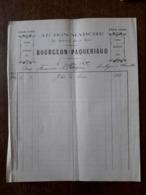 L24/28 Ancienne Facture. Charolles. Au Bon Marché. Bourgeon Paqueriaud . 1892 - 1800 – 1899
