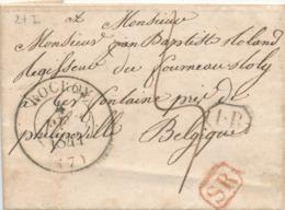 835/29 - Lettre Précurseur 1844 - Les Censes De ROCROY Vers CERFONTAINE Belgique Via GIVET - Signé Chaguette - Port 5 D. - 1801-1848: Précurseurs XIX