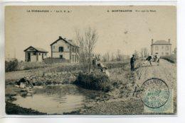 50 MONTMARTIN Sur MER  Petite GARE Paysan Et Sa Vache Lavandiere  1905  écrite  Du Village   /D18-S2017 - Montmartin Sur Mer