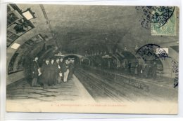 75 PARIS Métropolitain - 4- Une Station Souterraine Voageurs Quais 1906 écrite    /D18-S2017 - Sin Clasificación