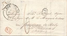 836/29 - Lettre Précurseur 1844 - CHARLEVILLE Vers CERFONTAINE Belgique - TB Entete Forges De La Cachette - Port 6 D. - 1801-1848: Précurseurs XIX