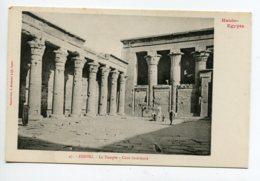 HAUTE EGYPTE 035 EDFOU No 46 Pylone Et Reliefs Du Temple  - 1900  Dos Non Divisé Bergeret - Edfu