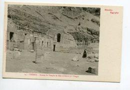 HAUTE EGYPTE 057 THEBES No 24 Temple De DEIR El Bahri Ruines 1er étage    - 1900  Dos Non Divisé Bergeret - Otros