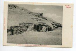 HAUTE EGYPTE 065 THEBES   No 16 Village Arabe Et Hypogées Sur Chaine Libyque     1900  Dos Non Divisé Bergeret - Otros