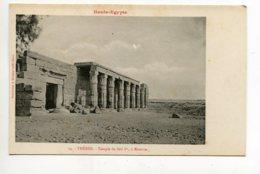 HAUTE EGYPTE 067 THEBES   No 14 Temple De Seti 1er à KOURNA 1900  Dos Non Divisé Bergeret - Luxor