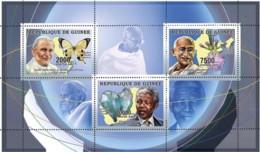 Guinea  2006 Humanists ,Pope John Paul II , Nelson Mandela , Gandhi , Butterfly ,mineral - Guinea (1958-...)