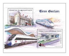 TURKEY/2019 - TRAIN STATIONS, MNH - 1921-... Repubblica