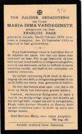 Aarsele, Lovenjoul, 1934, Maria Vandeginste, Page - Images Religieuses