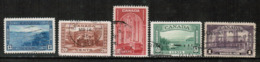 CANADA  Scott # 241-5 VF USED (Stamp Scan # 532) - Used Stamps