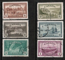 CANADA  Scott # 268-73 VF USED (Stamp Scan # 532) - Used Stamps