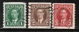 CANADA  Scott # 238-40 VF USED (Stamp Scan # 532) - Used Stamps