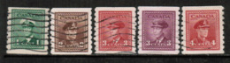 CANADA  Scott # 263-7 VF USED (Stamp Scan # 532) - Used Stamps