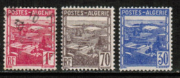 ALGERIA  Scott # 132-4 VF USED (Stamp Scan # 532) - Algeria (1924-1962)