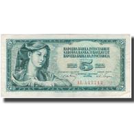 Billet, Yougoslavie, 5 Dinara, 1968, KM:81b, TTB - Yougoslavie