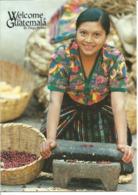 """CPM Du GUATEMALA """" Femme Qui Moud Du Café  """" - Guatemala"""