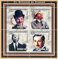 Mozambique 2002 - Movies (C.Chaplin, F.Sinatra, A.Hitchkock, WDisney). Y&T 2046-2049, Scott 1614, Michel 2520-2523. - Mozambique